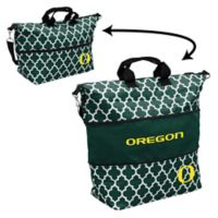 University of Oregon Quatrefoil Expandable Tote in Hunter