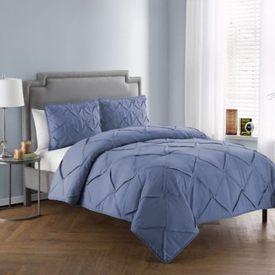 Vcny Home Julie 3 Piece Queen Comforter Set In Periwinkle