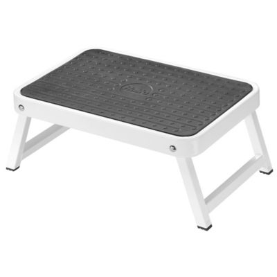 halo™ Folding Step Stool in White  sc 1 st  Bed Bath u0026 Beyond : kikkerland easy fold step stool - islam-shia.org