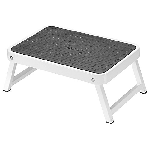 Halo Folding Step Stool In White Bed Bath Amp Beyond