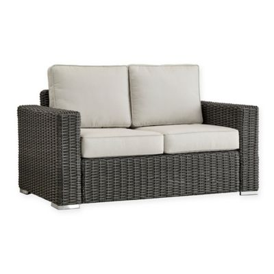 verona home brescia allweather wicker loveseat in