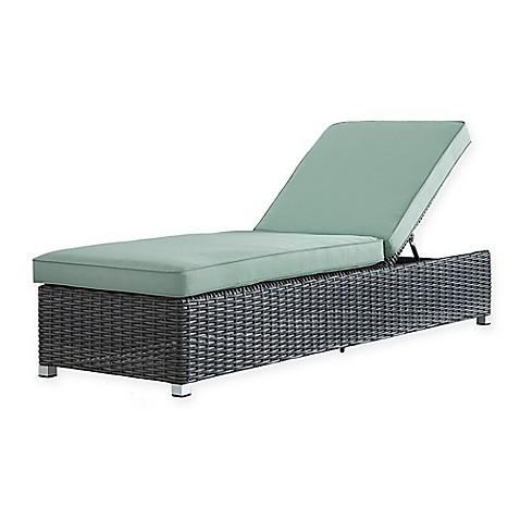 Verona home brescia all weather wicker adjustable chaise for All weather wicker chaise