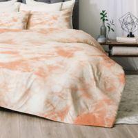 Deny Designs Tie Dye 3 Twin/Twin XL Comforter Set in Peach