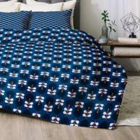 Deny Designs Co Stockholm Queen Comforter Set in Navy