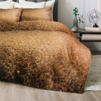 Deny Designs Chelsea Victoria Gold Dust King Comforter Set in Gold