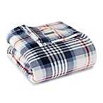 Eddie Bauer® Summit Plaid Ultra Soft Plush King Blanket in Navy
