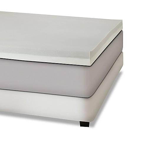 bination Memory Foam 4 Inch Mattress Topper in Grey