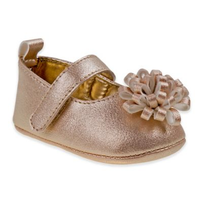 7b7f0507167 Laura Ashley Size 3-6M Mary Jane Shoe with Bow in Rose Gold