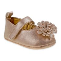 Laura Ashley Size 3-6M Mary Jane Shoe with Bow in Rose Gold
