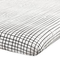 Babyletto Tuxedo Grid Fitted Mini Crib Sheet