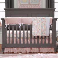 Liz and Roo Petal Pink Linens 3-Piece Crib Bedding Set