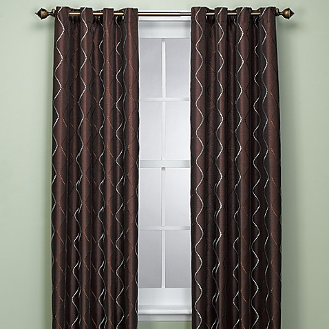 delano 72 inch window panel in chocolate bed bath beyond. Black Bedroom Furniture Sets. Home Design Ideas