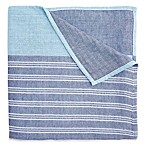 Elegant Baby® 3-Ply Yarn-Dyed Cotton Muslin Adult Blanket in Blue