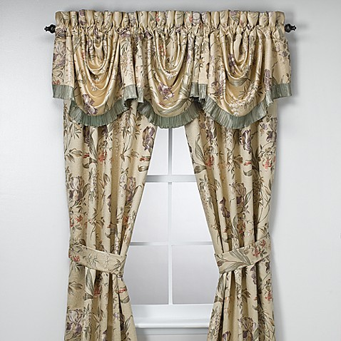 Croscill Window Curtain Panel Pair And Valance Bed Bath Beyond