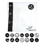 "Lulujo Baby ""Loved Beyond Measure"" Muslin Swaddle Blanket and Cards Set in White/Grey"