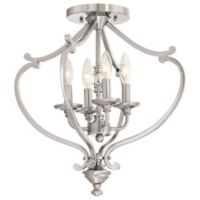 Minka-Lavery® Savannah Row 4-Light Semi-Flush Mount Chandelier in Brushed Nickel