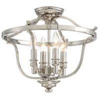 Minka-Lavery® Audrey's Point 4-Light Semi-Flush Mount Ceiling Light in Polished Nickel