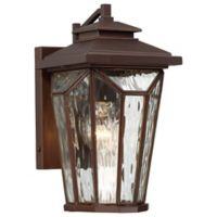 The Great Outdoors® by Minka-Lavery® Satomi 11-Inch Wall-Mount Lantern in Bronze