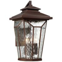 The Great Outdoors® by Minka-Lavery® Satomi 17-Inch Wall-Mount Lantern in Bronze