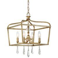 Minka Lavery® Laurel Estate 4-Light Pendant Light in Brio Gold