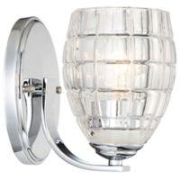 Minka-Lavery® Austine 1-Light Bath Light in Chrome with Clear Glass Shade