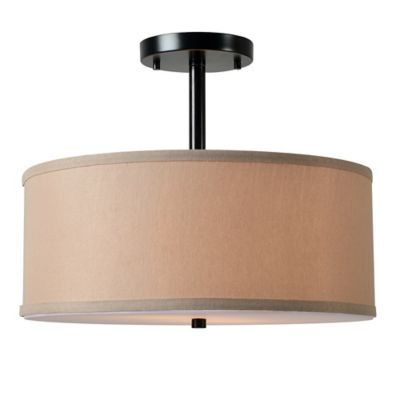 Buy drum shade ceiling light from bed bath beyond kenroy home paige 2 light semi flush mount ceiling light in oil rubbed bronze aloadofball Choice Image