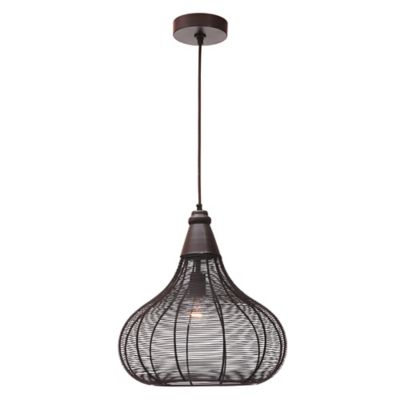 kenroy home hartlyn 1light pendant light in oil rubbed bronze - Bronze Pendant Light