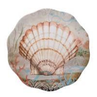 Certified International Coastal View Susan Winget 13.25-Inch Round Platter in Beige