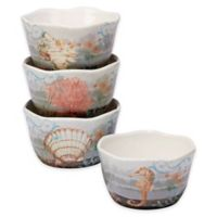 Certified International Coastal View Susan Winget Ice Cream Bowls in Beige (Set of 4)