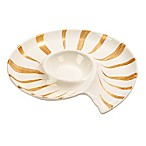 Certified International Coastal Discoveries 3-D Chip and Dip Tray in Ivory/Gold