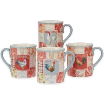 Certified International Farm House Rooster Mugs (Set of 4)  sc 1 st  Bed Bath u0026 Beyond & Buy Rooster Dinnerware Sets from Bed Bath u0026 Beyond