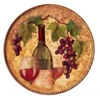 Certified International Gilded Wine 15.25-Inch Round Platter