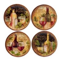 Certified International Gilded Wine Salad Plates (Set of 4)