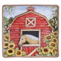Certified International Heartland 12.25-Inch Square Platter