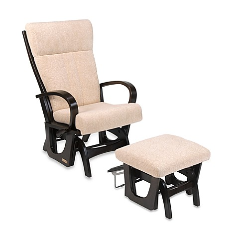 dutailier matrix too glider with round arms and ottoman