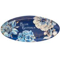 Certified International Indigold Oval Platter in Blue