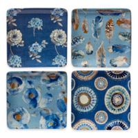 Certified International Indigold Canape Plates in Blue (Set of 4)