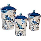 Certified International Indigold 3-Piece Canister Set in Blue