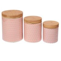 Certified International Chelsea Honeycomb 3-Piece Canister Set