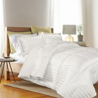 Kathy Ireland® Reversible Down Alternative Twin Comforter Set in White