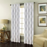Valencia 95-Inch Rod Pocket Embroidered Window Curtain Panel in White
