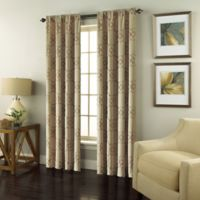 Valencia 84-Inch Rod Pocket Embroidered Window Curtain Panel in Taupe