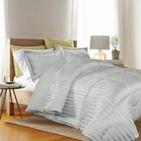 Kathy Ireland® Reversible Down Alternative Twin Comforter Set in Platinum