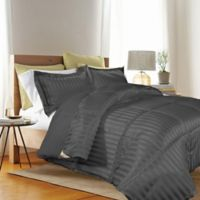 Kathy Ireland® Reversible Down Alternative King Comforter Set in Black