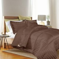 Kathy Ireland® Reversible Down Alternative Full/Queen Comforter Set in Chocolate