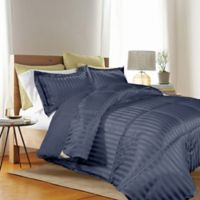 Kathy Ireland® Reversible Down Alternative Twin Comforter Set in Navy