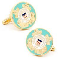 Cufflinks, Inc. Gold-Plated and Enamel U.S. Coast Guard Cufflinks