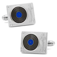 Cufflinks, Inc. Silver-Plated and Enamel Record Player Cufflinks