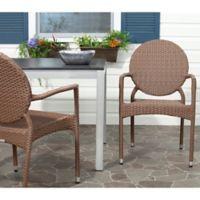 Safavieh Valdez Indoor/Outdoor Armchairs in Brown (Set of 2)