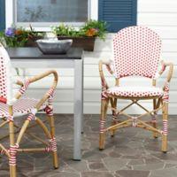 Safavieh Hooper Indoor/Outdoor Armchairs in Red/White (Set of 2)